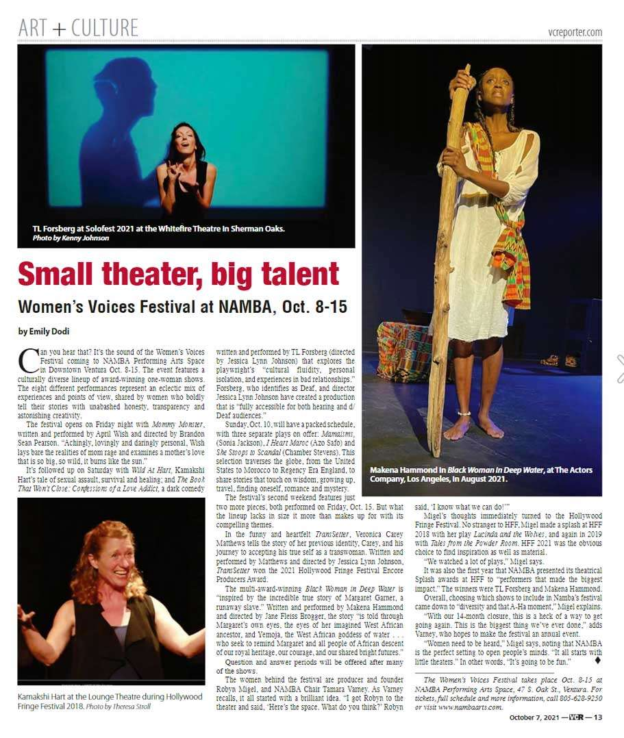 Women's Voices Festival 2021 in the VC Reporter