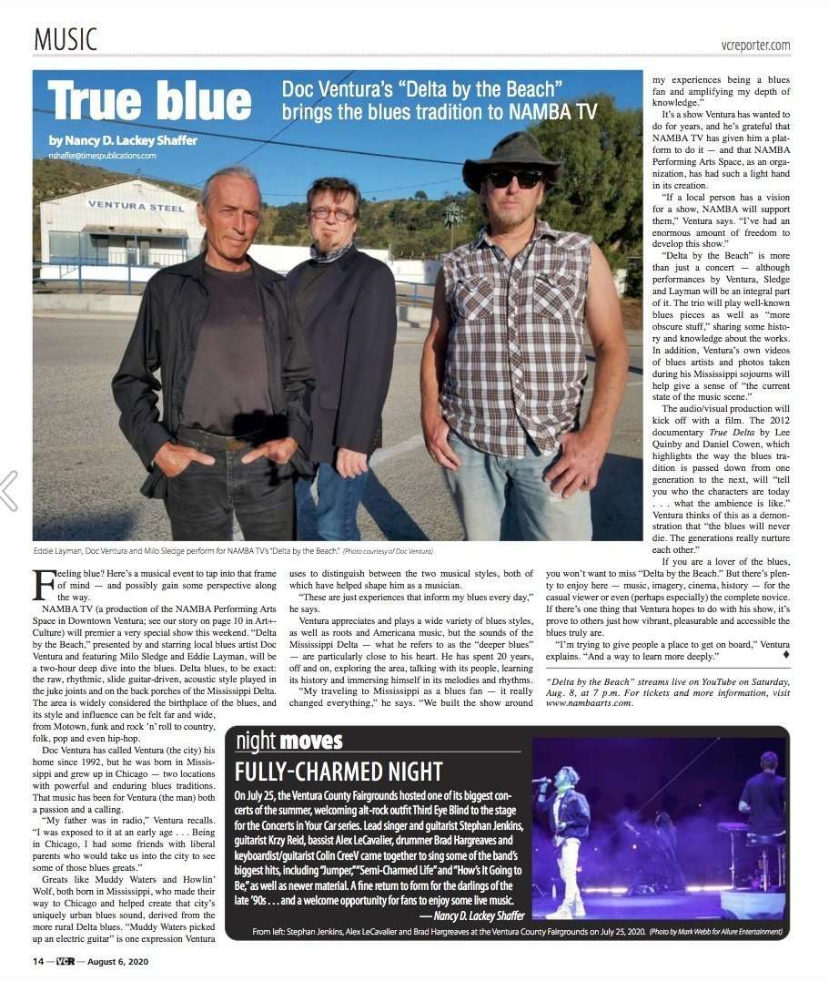 Delta by the Beach in the VC Reporter page 1